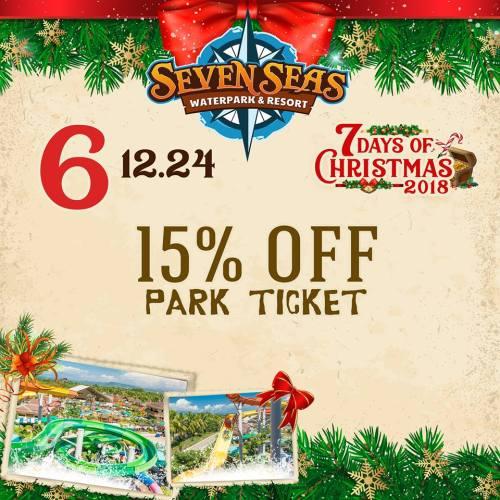 Seven Seas Day 6 15percent off park ticket