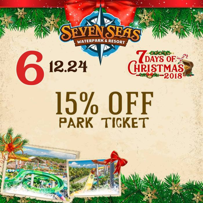 Seven Seas Day 6 15percent off park ticket