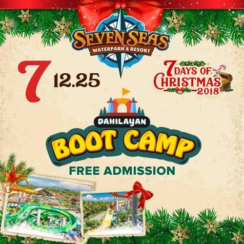 Seven Seas Day 7 Dahilayan Boot Camp coupon