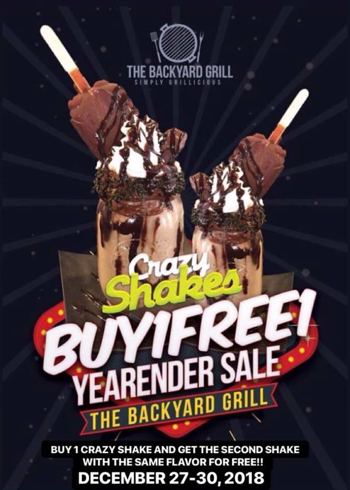 The Backyard Grill Year End Sale