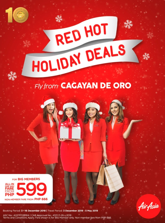 air asia red hot holiday deals cdo