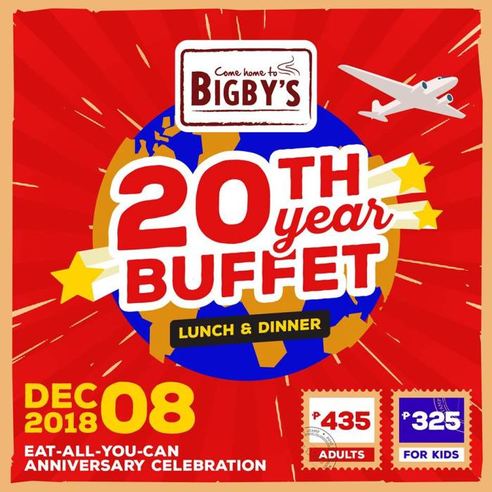 Bigbys 20th Year Buffet