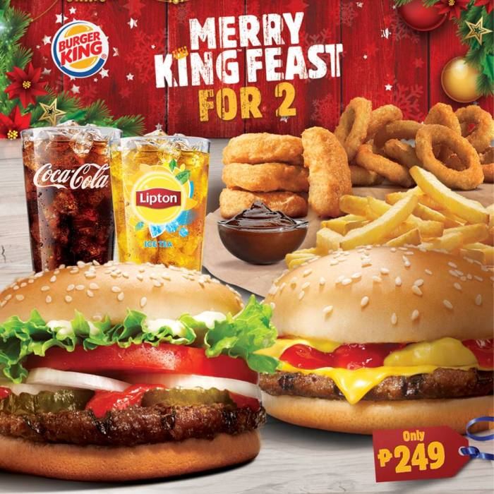 Burger King Merry King Feast for 2