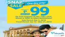 cebu pacific snap sale base fare P99 FI