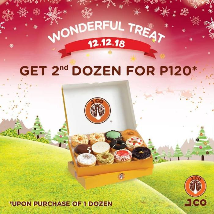 J.CO Donuts 12.12 Treat - Get 2nd Dozen for P120