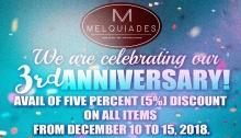 Melquiades 3rd Anniversary FI