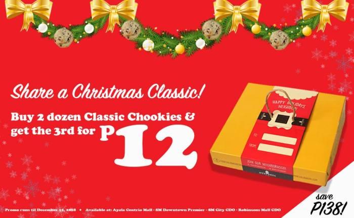 Mercedes Bakery 3rd Dozen Classic Chookie for P12