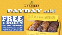 Mercedes Bakery Payday Sale Free 1 dozen classic chookies FI