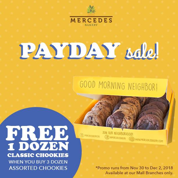 Mercedes Bakery Payday Sale Free 1 dozen classic chookies