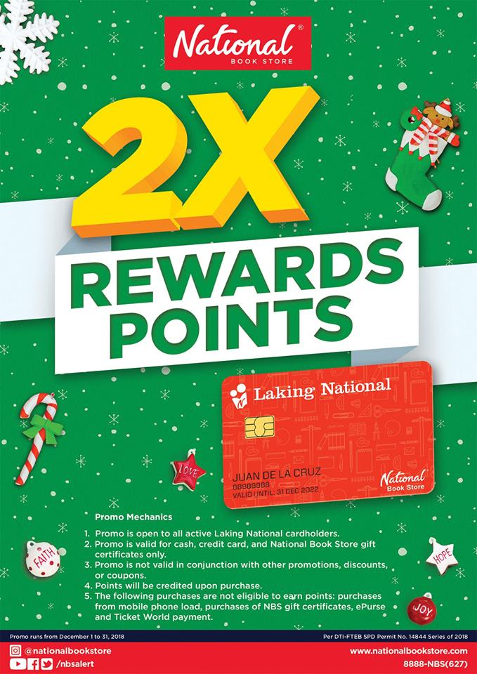 National Book Store 2X Rewards Points