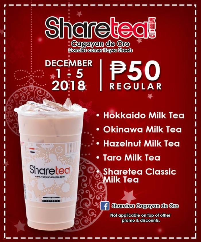 Sharetea CDO Christmas Season Promo