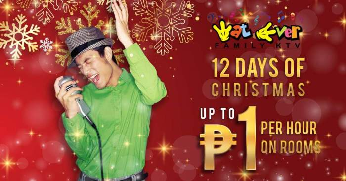 Wat Ever Family KTV 12 days of Christmas Promo
