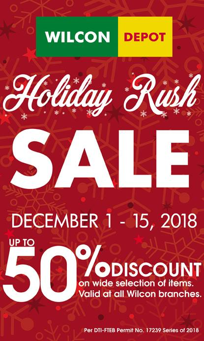 Wilcon Depot Holiday Rush Sale