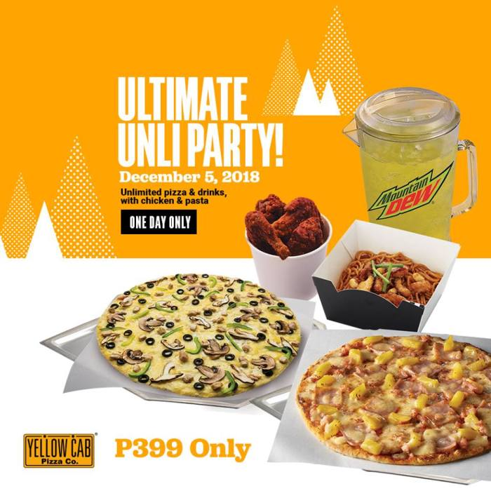 Yellow Cab Ultimate Unli Party