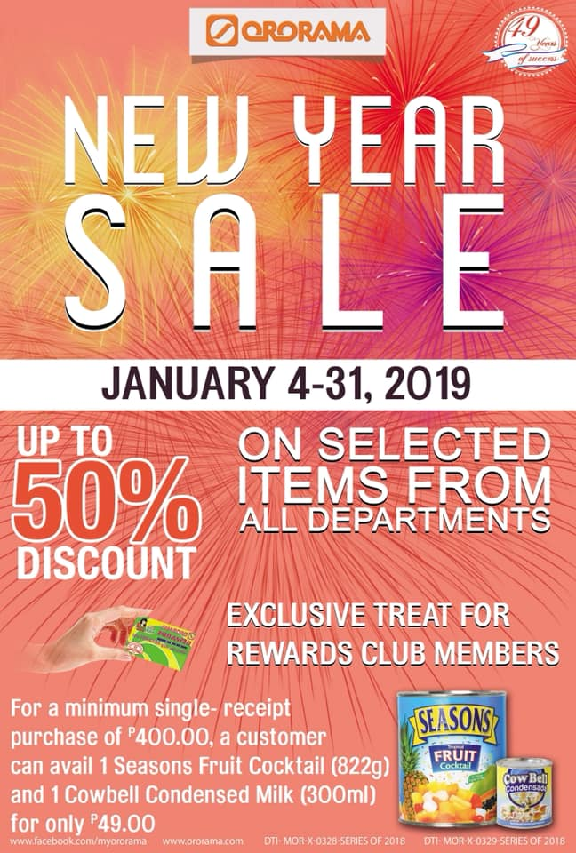 Ororama New Year Sale