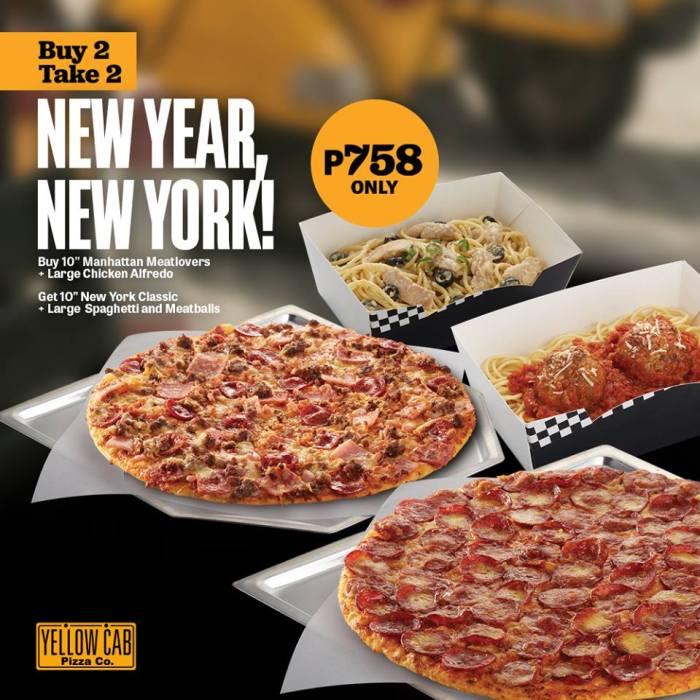 Yellow Cab New Year New York Buy 2 Take 2