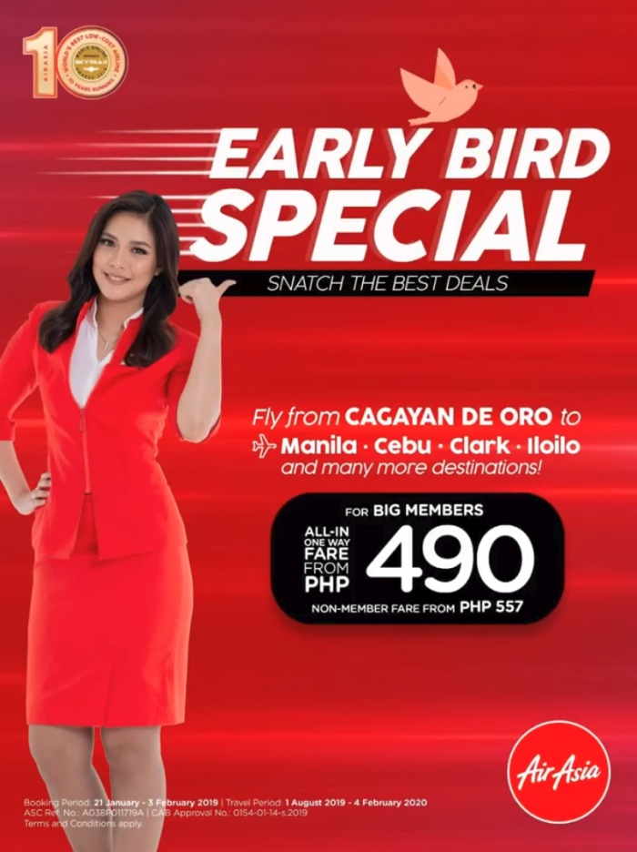 AirAsia early bird special cdo