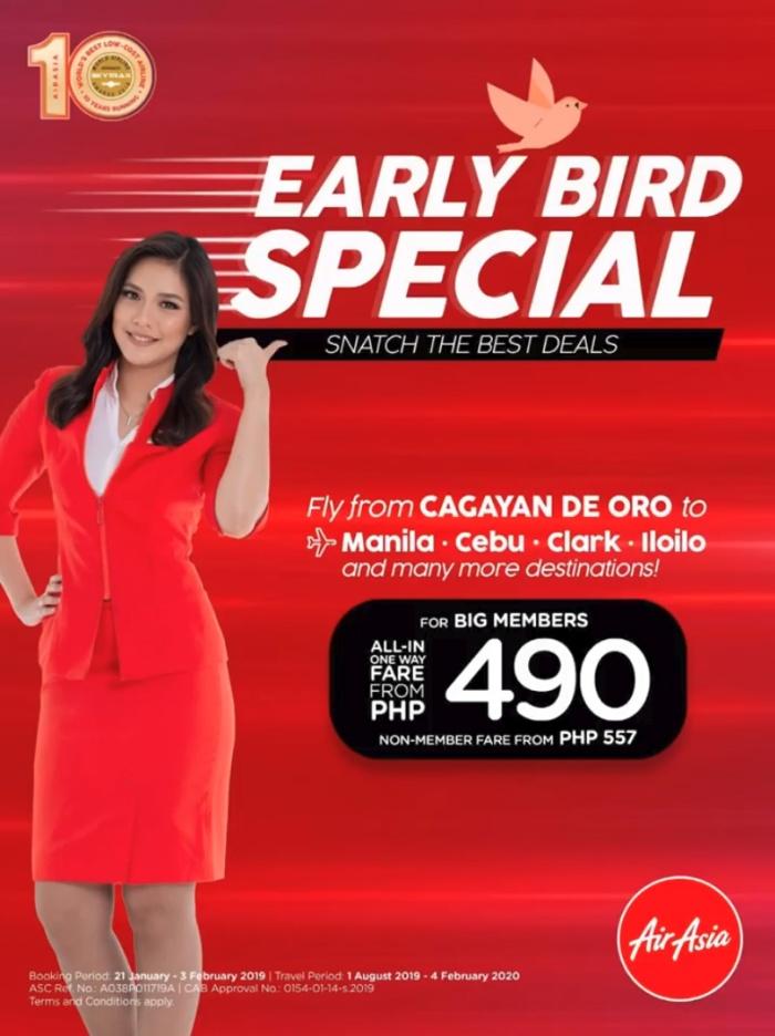 AirAsia early bird special cdo