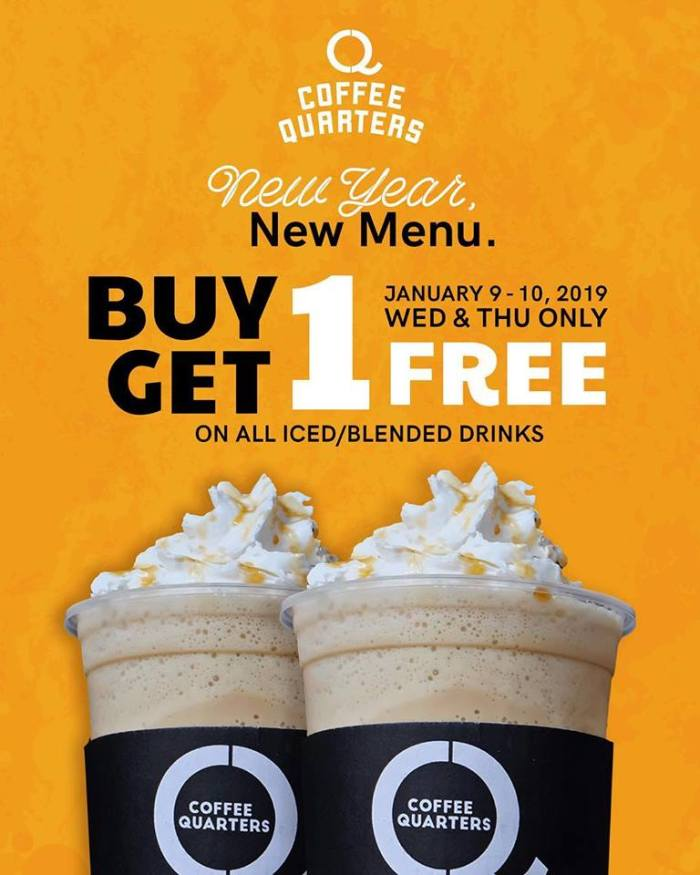 coffee quarters buy 1 get 1