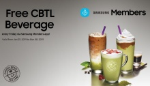 Free CBTL for Samsung users or members FI