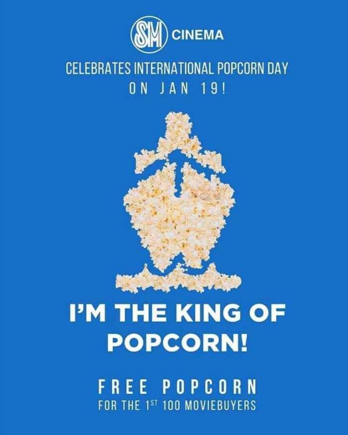free popcorn at sm cinemas first 100 customers