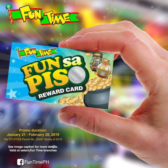 fun time fun sa piso reward card