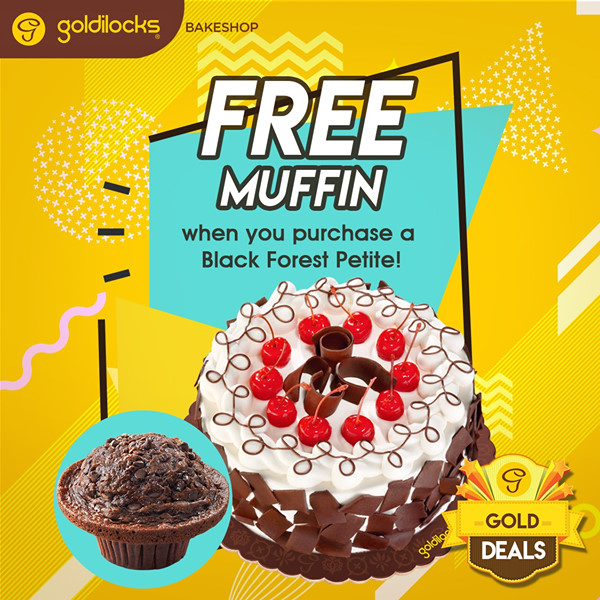 goldilocks gold deals free muffin