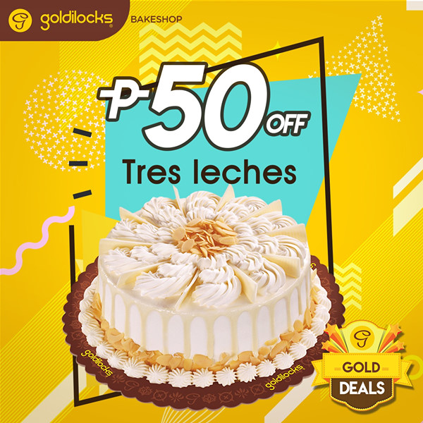 goldilocks gold deals tres leches