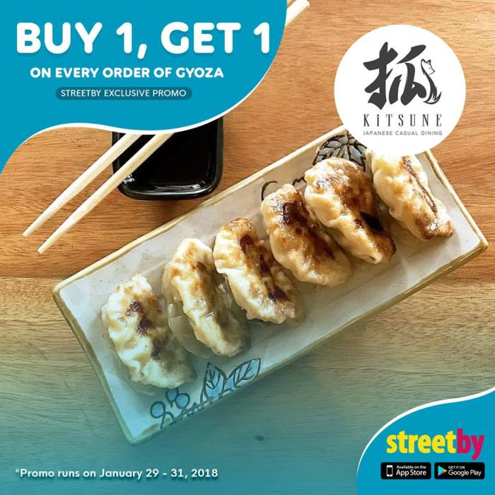 kitsune japanese casual dining buy 1 get 1
