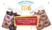 krispy kreme buy 6 get 6 payday treat FI