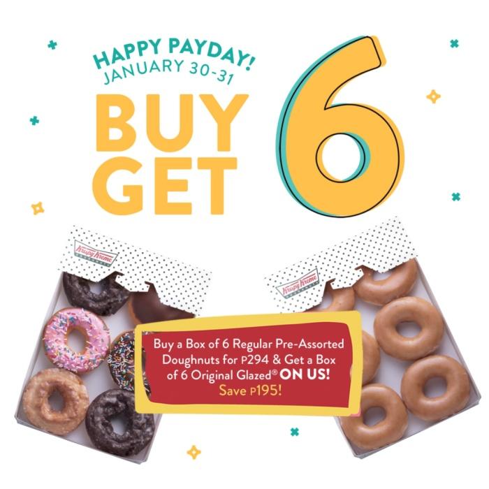 Krispy Kreme Buy 6 Get 6 Payday Treat