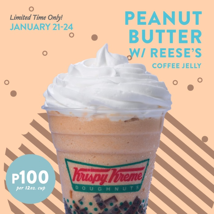 krispy kreme peanut butter with reeses coffee jelly promo