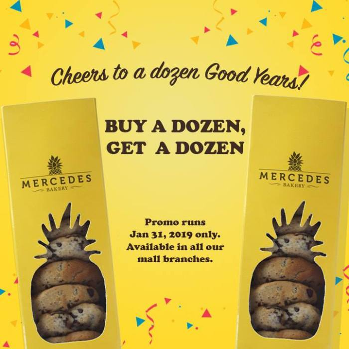 Mercedes Bakery 12th anniversary promo