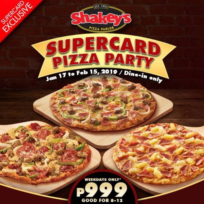 Shakey's Supercard Pizza Party