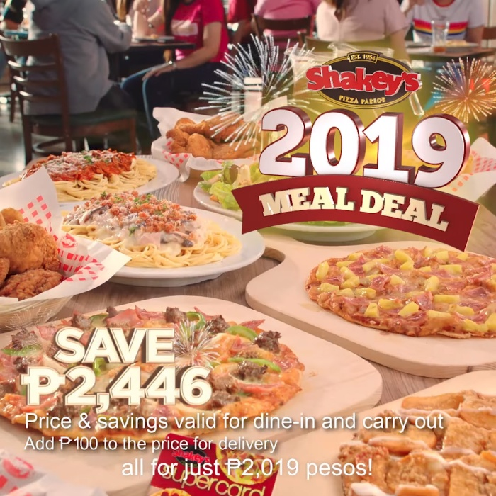 Shakey's Meal Deal 2019