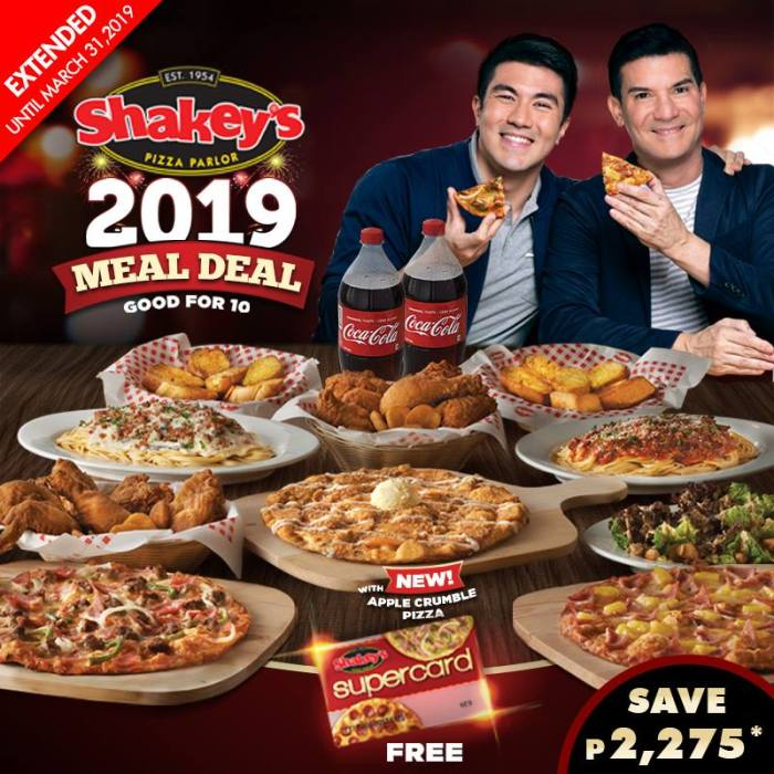 Shakey's Meal Deal 2019 extended