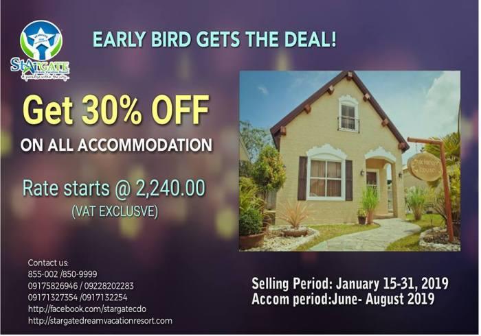Stargate Dream vacation Resort Early Bird Promo