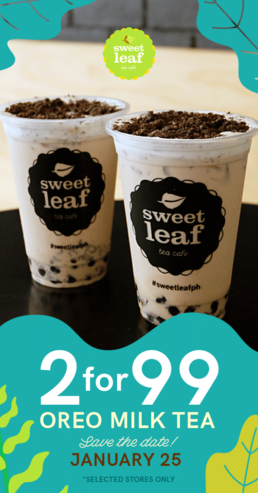 Sweet Leaf Bubble Tea Cafe 2 for p99