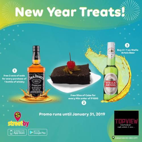Topview Restobar New Year Treats