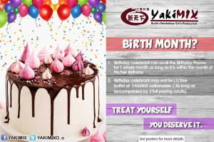 yakimix birthday treat