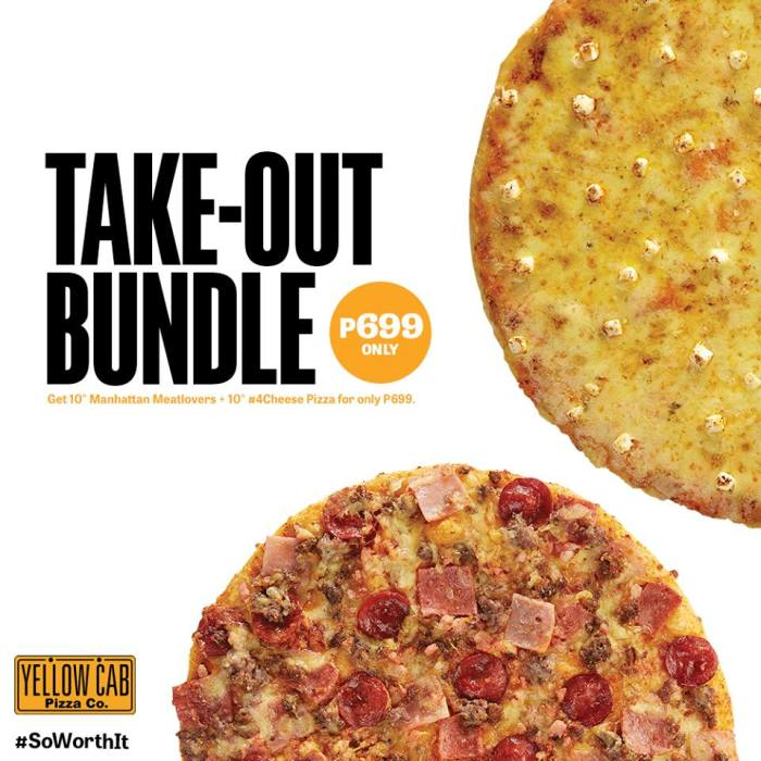 yellow cab take-out bundle
