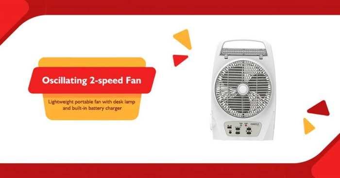 joesons 2-speed fan