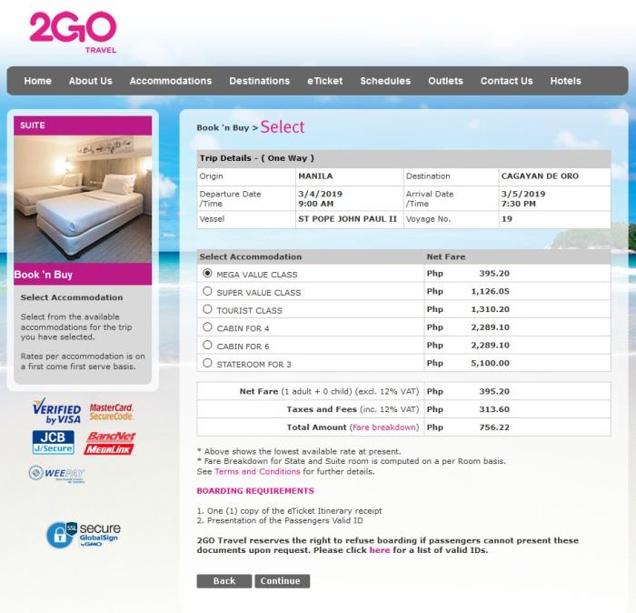 2go travel 2plus sea sale SS