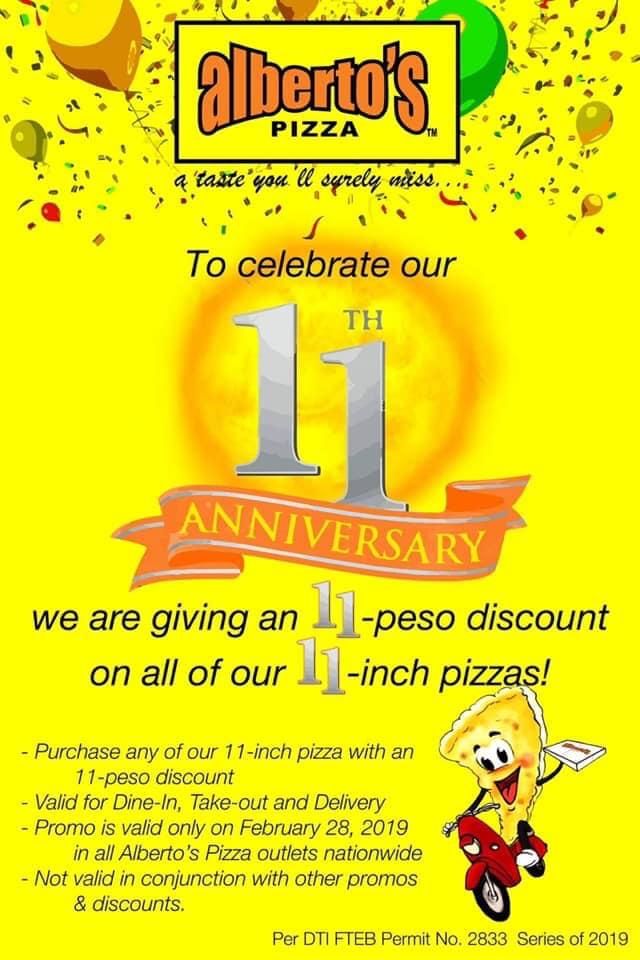Alberto's Pizza CDO 11th Anniversary