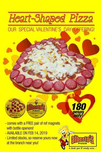 Alberto's Pizza Heart-Shaped Pizza with Free Pair of Magnets