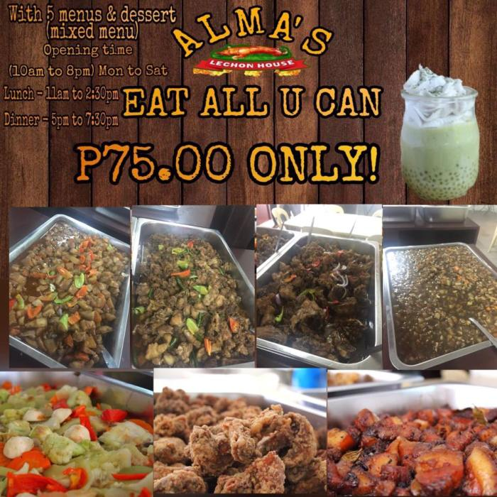 Alma's lechon house eat all you can