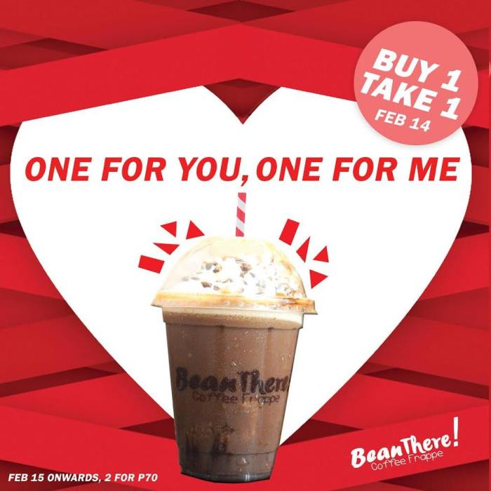 Bean There Coffee Frappe Buy 1 Take 1 Special Chocolate Valentine Frappe
