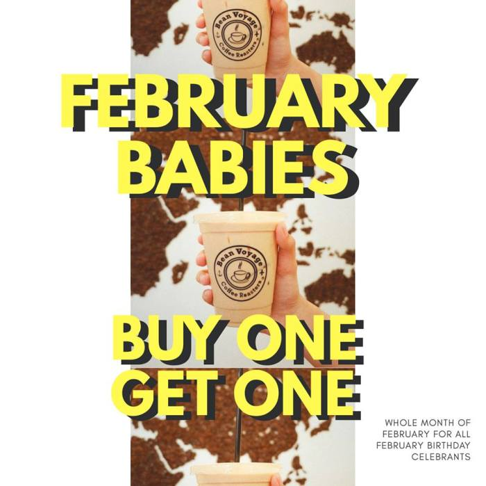 Bean Voyage Coffee Co Feb Babies Buy 1 Take 1
