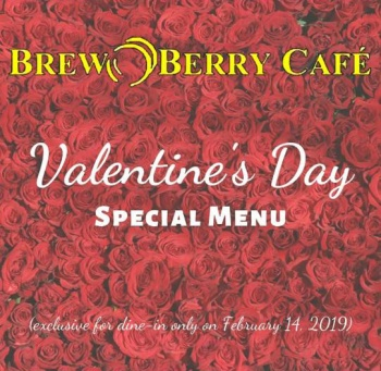Brew Berry Cafe Valentine's Day Special Menu