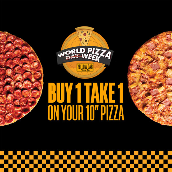 Buy 1 Take 1 on 10inch pizza with pizza week